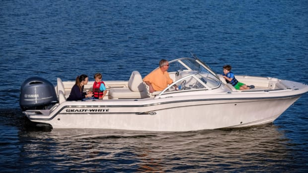 Grady-White said its new Freedom 215 has an 8-foot, 6-inch beam.
