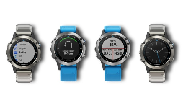 Garmin said its new Quatix 5 marine GPS smartwatch has features that include autopilot control, remote multifunction display, waypoint marking, data streaming and sailracing assistance.