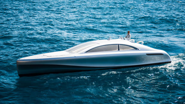 Two Yanmar diesel engines will power this Mercedes Benz-styled Arrow 460 Granturismo motoryacht.