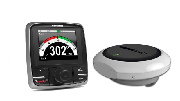 The key to the upgrade to the Raymarine Evolution Autopilot is its 9-axis EV sensor core, which compensates for the effects of sea conditions and vessel motion.