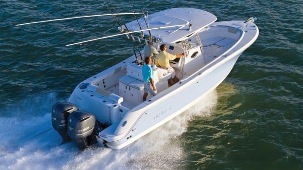 Strong sales of Robalo outboard sportfishing boats, such as this R300, has helped the brand gain market share.