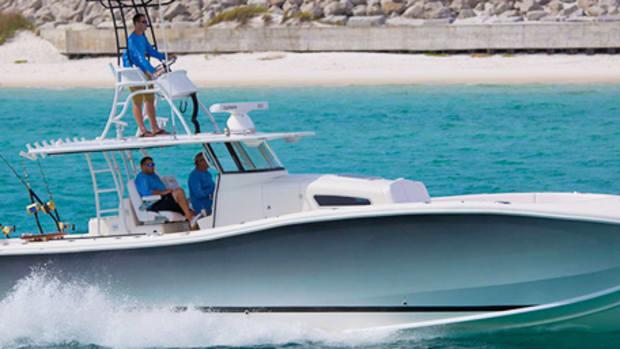 The Insetta 45 is the company's 45-foot power catamaran.