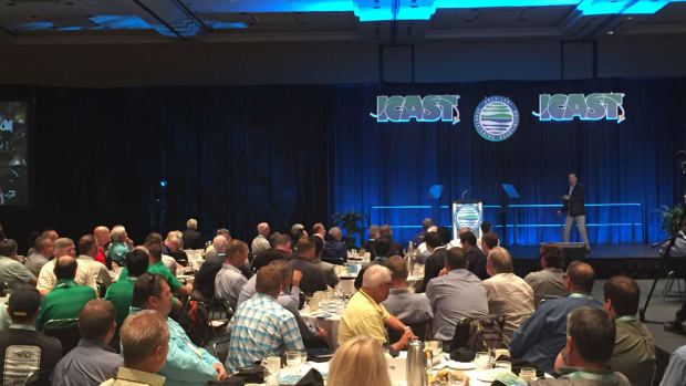 Keynote speaker Ken Schmidt told audience members at ICAST that they must humanize their products and businesses and go beyond using clichés to talk about their products.