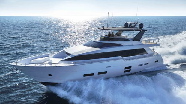"""The 70-foot Hatteras is listed among the """"Best of the Best"""" in the Robb Report."""