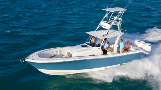 This 36-foot center console has helped EdgeWater Boats drive demand and contribut-ed to the company's recent growth in workforce and capacity.