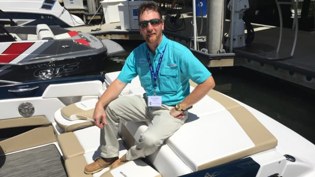 """Glastron dealer Gary Tennefoss, owner of Ravenna Marine in Ravenna, Ohio, applauds Groupe Beneteau for its willingness """"to learn and understand our markets."""""""
