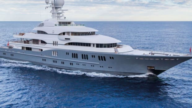 The 257-foot Lurssen yacht TV will be one of six yachts larger than 200 feet next month at the Fort Lauderdale International Boat Show.