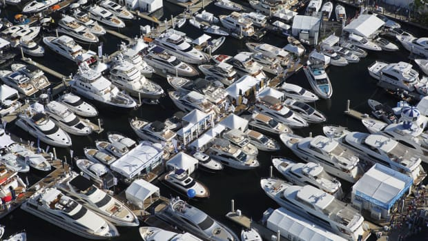 Some boat companies split their fleets. Smaller boats go to the convention center, and the big models are berthed at the Bahia Mar.