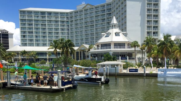 Nearly 60 dealers gathered Monday in Fort Myers, Fla., for the Marquis-Larson Group dealer meeting. Dealers got a chance to test 14 boats ranging from 19 to 50 feet representing six of the group's brands.