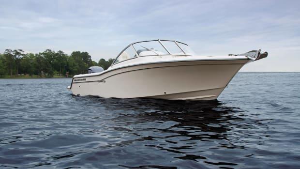 Grady-White's new Freedom 235 has a SeaV2 hull.