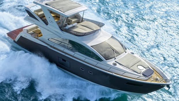 """Nautical Ventures says this yacht from Brazilian Schaefer Yachts, the 640, will be its """"queen"""" at Yachts Miami Beach, which runs Feb. 16-20."""