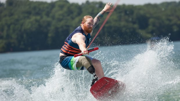 Wake for Warriors gives returning service members a day on the water surfing and cruising with friends and family.
