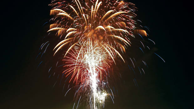 Three percent of BoatUS members who responded to a recent survey said fireworks displays are the only reason they will venture out after dark all year long.