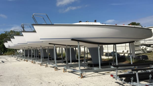 These Colgate 26 sailboats were built for the U.S. Naval Academy.