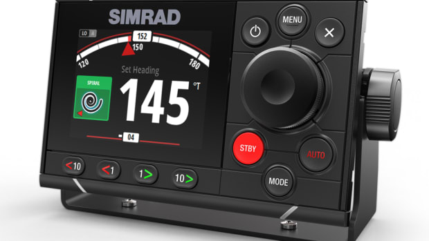 Simrad's new AP48 offers a full-color display.