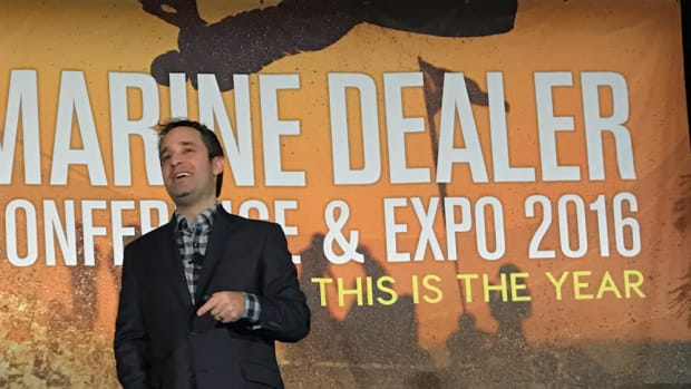 """The Marine Dealer Conference & Expo's first keynote speaker, Josh Linkner, told industry professionals Tuesday to """"let innovation carry the day."""""""