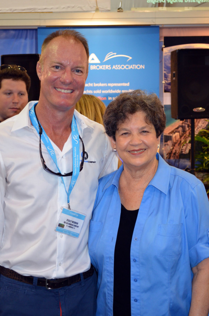 Staley Weidman, chairman of the International Yacht Brokers Association's legislative affairs committee, is shown with U.S. Rep. Lois Frankel, D-Fla., when a similar bill was introduced in 2015.