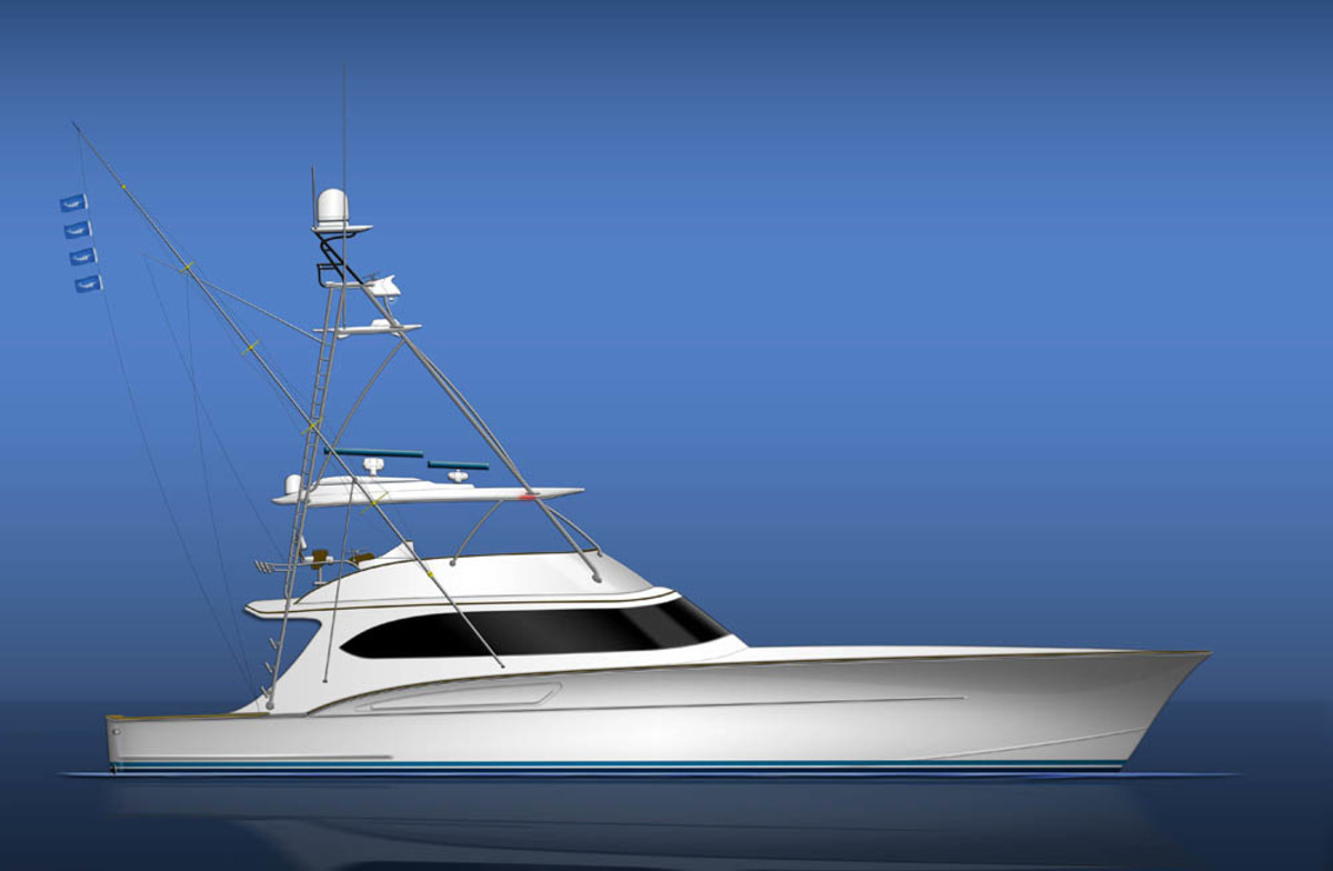 The convertible sportfishing yacht will take about 28 months to complete.
