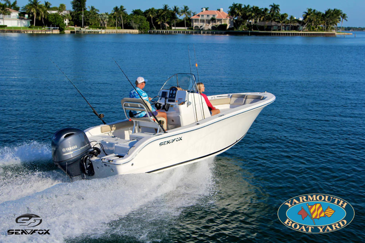 Sea Fox Boats builds several center-console models, including the 186 Commander.