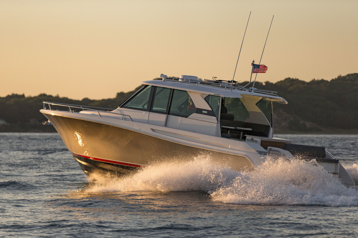 Walstrom Marine has hull No. 2 of the new Q44 in stock.
