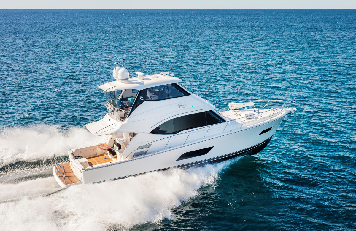 The Riviera 52 Enclosed Flybridge had its world premiere at the Gold Coast International Marine Expo in May.