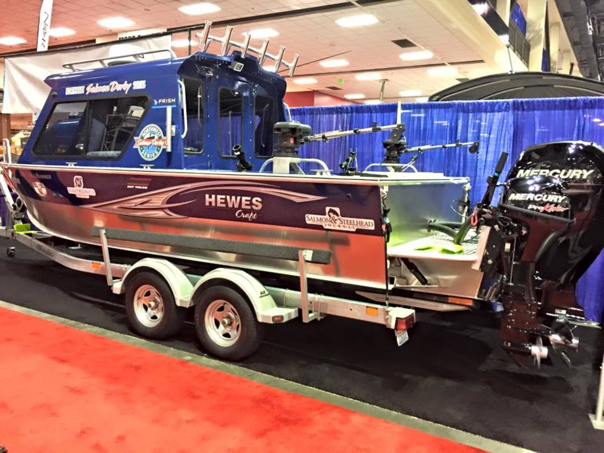 The grand prize boat was on display at the 2015 Seattle Boat Show.