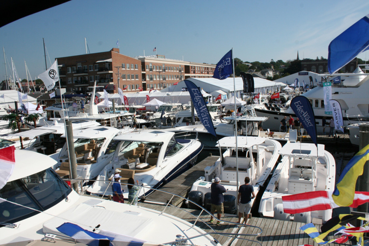 Traffic was brisk during the four days of the Newport (R.I.) International Boat Show.