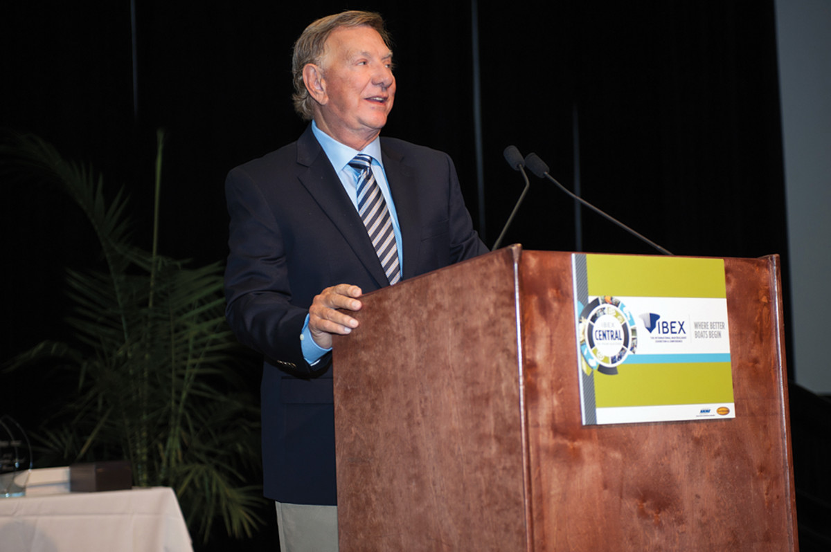 Long spoke at IBEX in September after his induction into the NMMA Hall of Fame.
