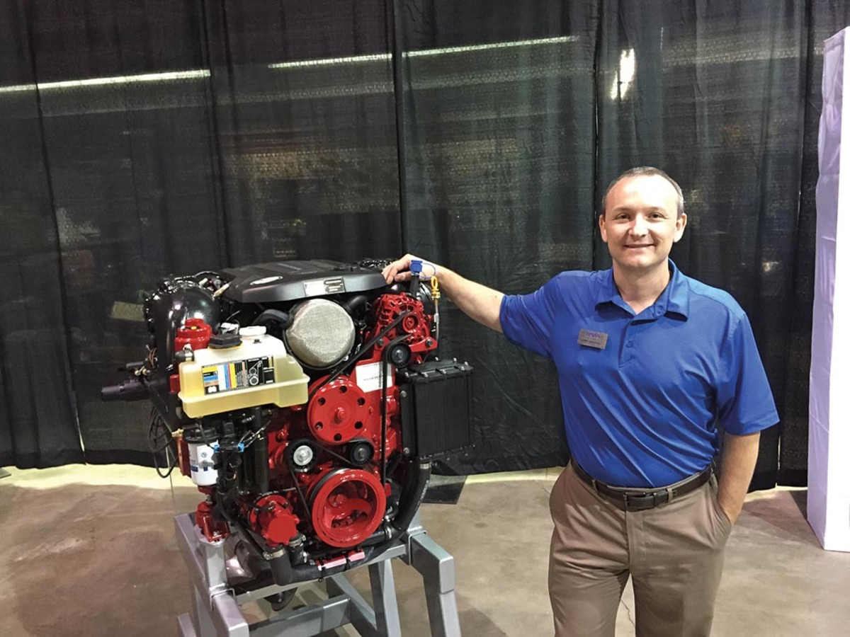 Mel Cahoon, manager of new products, says the new Volvo Pentas pack more horsepower in a lighter block with a smaller footprint.