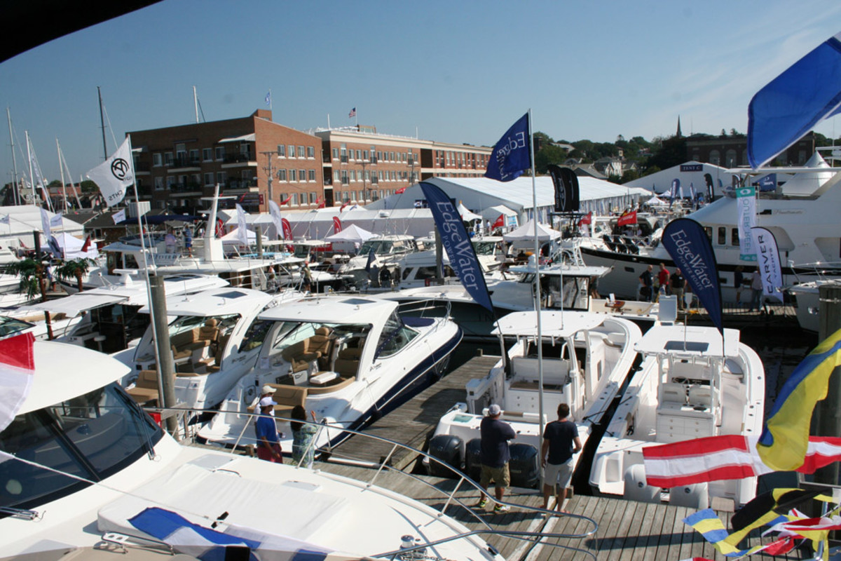 Power- and sailboats from 15 to 90 feet were on display at the show.