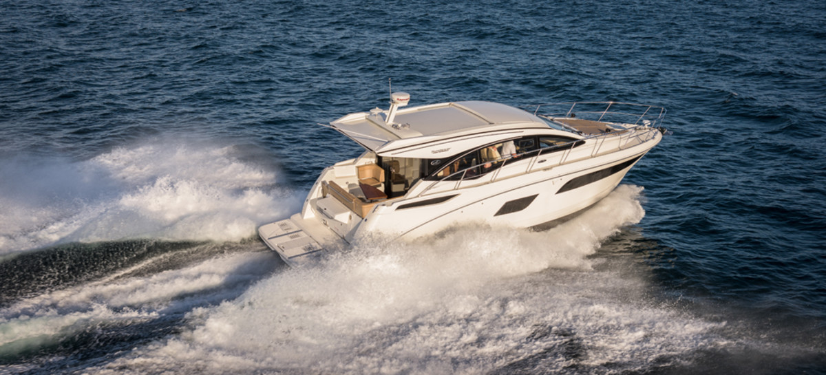 Sea Ray's new 400 Sundancer will be on display Nov. 5-9 in Fort Lauderdale.
