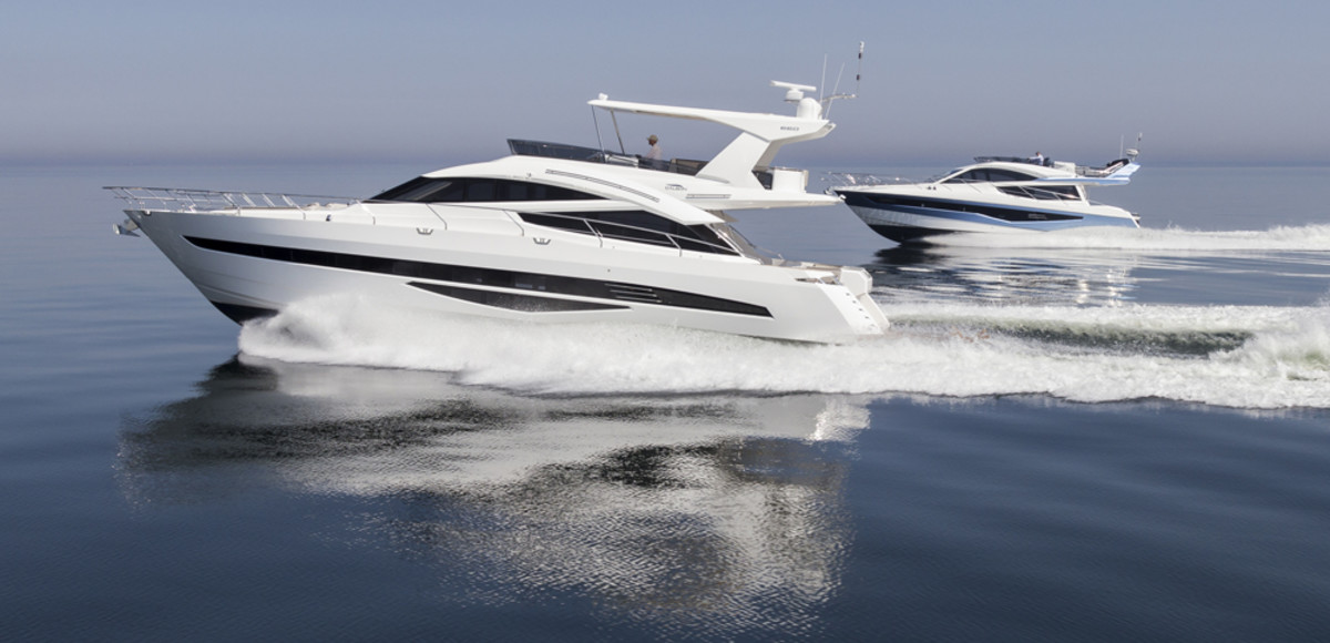 MarineMax will carry yachts from the Polish builder Galeon Yachts that include the Galeon 660 Fly models shown here.