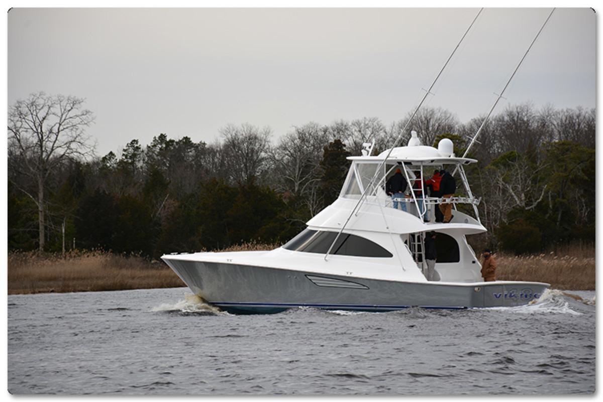 The new Viking 48 Convertible recently completed sea trials.