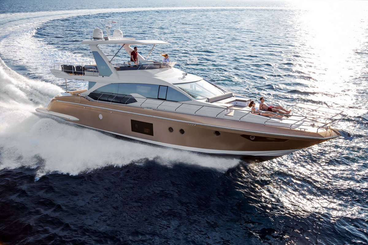 Azimut Yachts unveiled the new 66 at the Düsseldorf Boat Show, which opened Saturday and runs through Jan. 31.