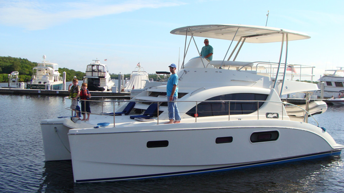 Southwest Florida Yachts offers a Leopard 37 power catamaran for charter.