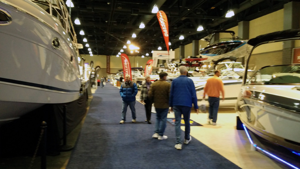 There were more than 250 boats on display at the Hartford Boat Show.