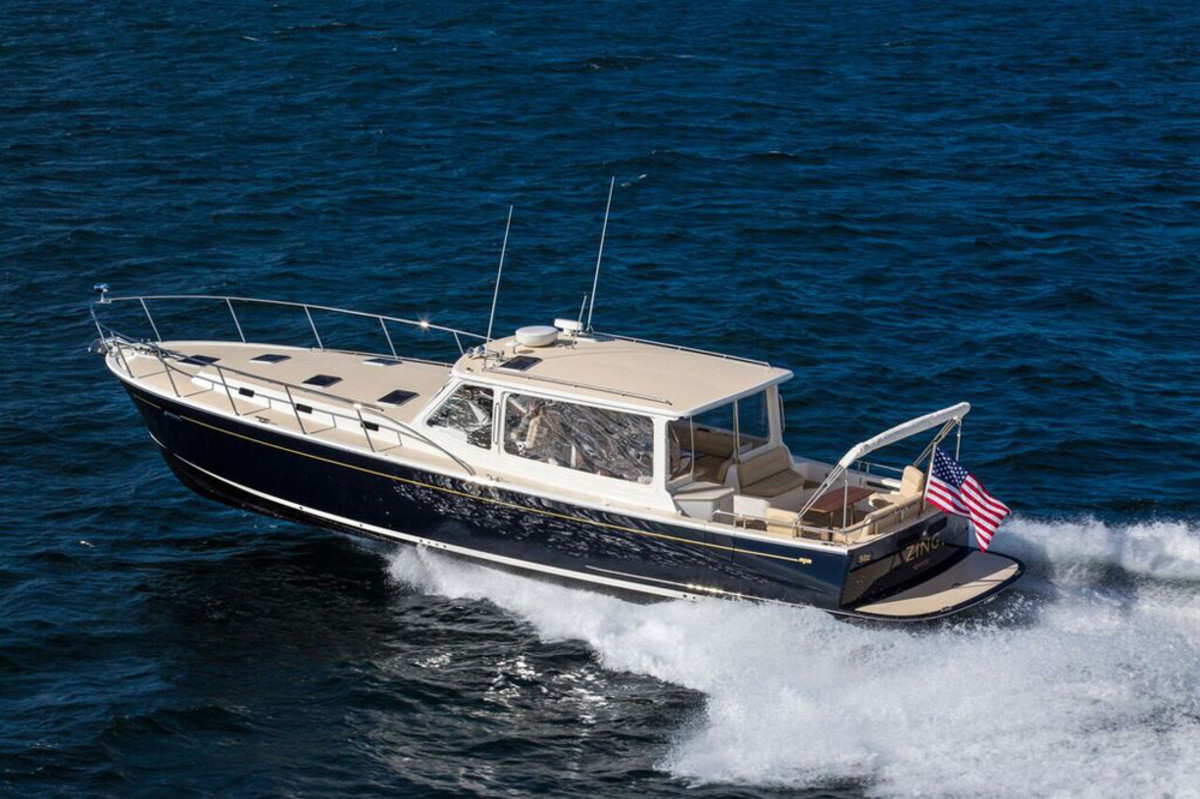 The MJM 50z M/Y Zing will be on display at Yachts Miami Beach.