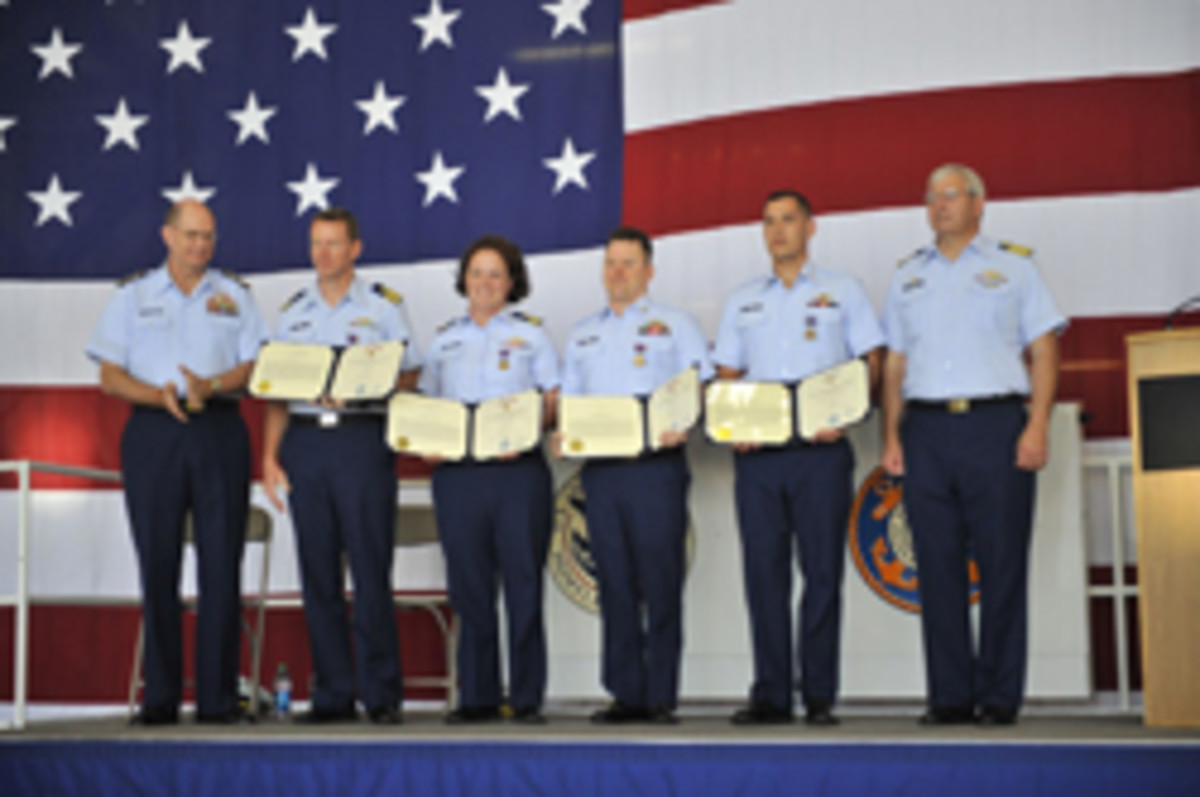Coast Guard award ceremony
