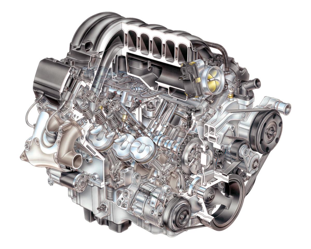 Volvo Penta's 5.3-liter V-8 is built using the Gen V General Motors engine.