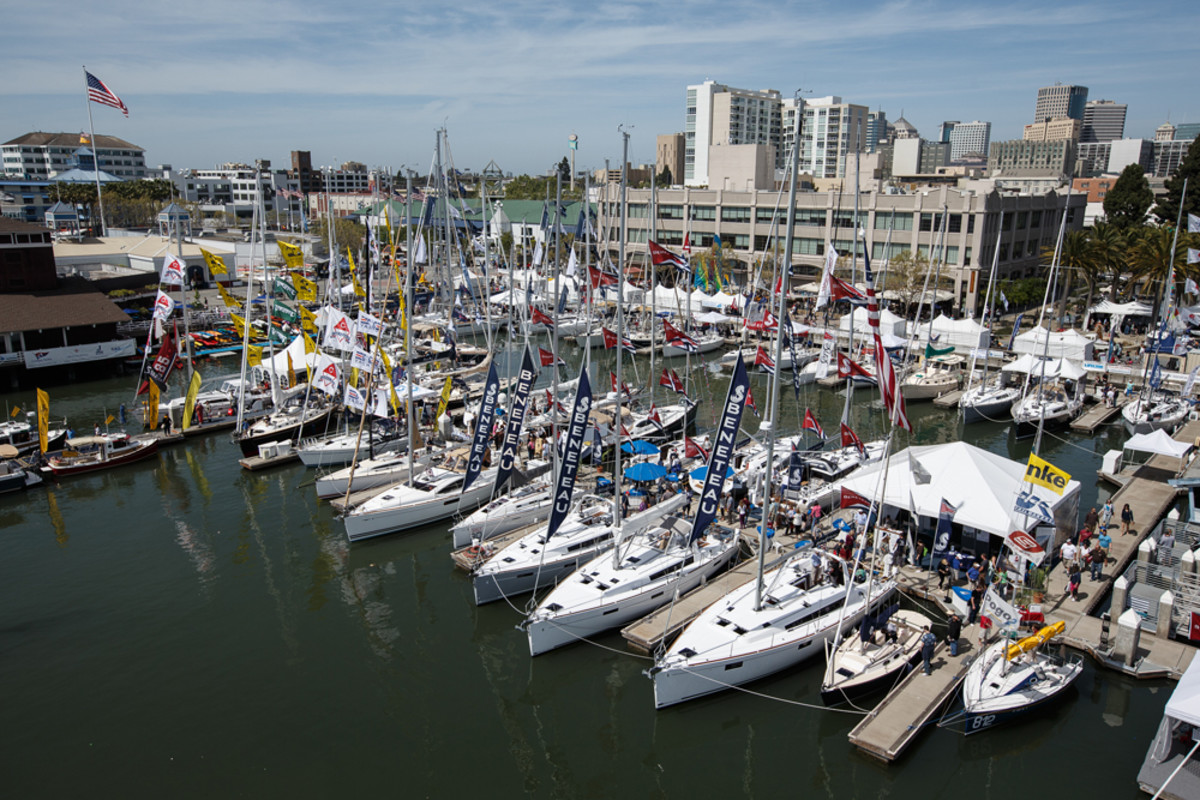 This is a scene from last year's Strictly Sail Pacific Boat Show, which took place at Jack London Square in Oakland, Calif. This year the show will be held at the Craneway Pavilion and Marina Bay Yacht Harbor in Richmond, Calif.