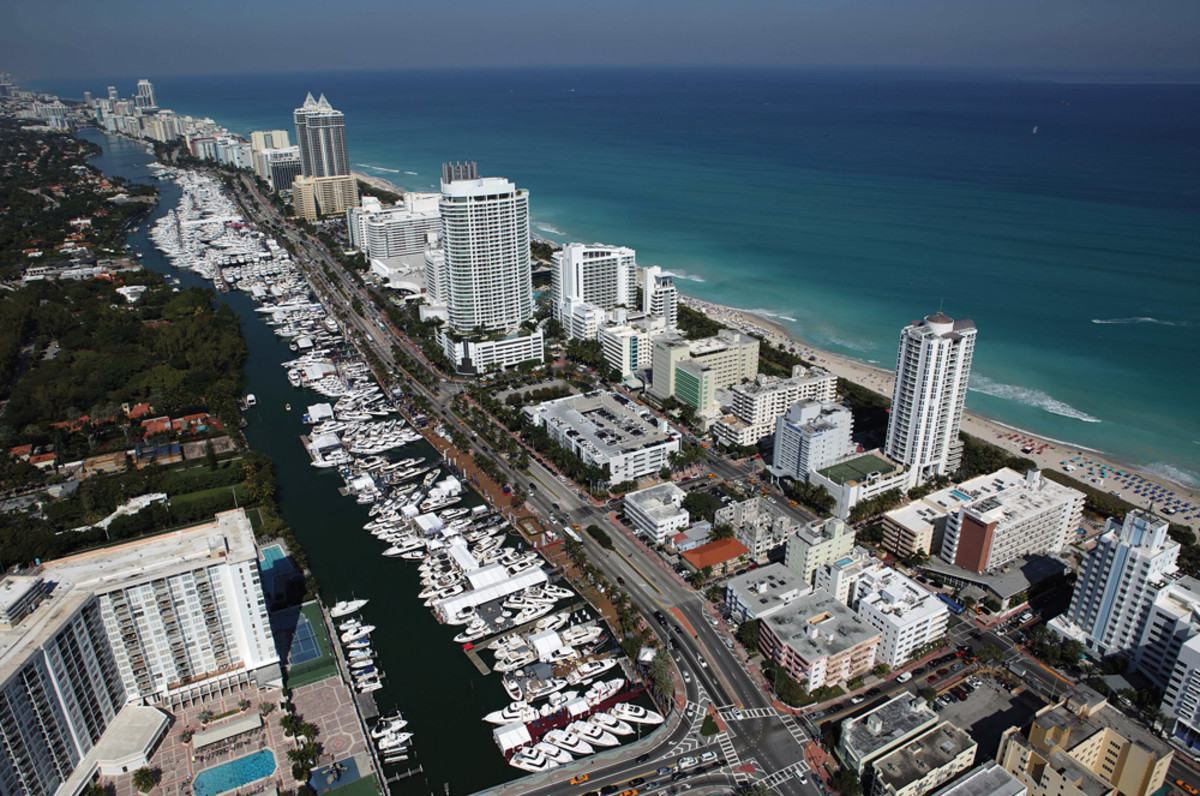 Yachts Miami Beach has been a February fixture along Collins Avenue for 28 years.