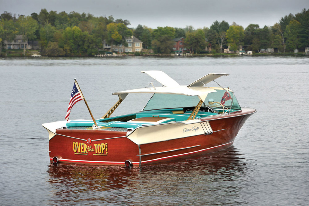 This 1961 Chris Craft is expected to fetch as much as $150,000 when it's auctioned next month in Fort Lauderdale.