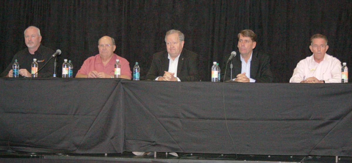 From left, Rick Correll, Bob Menne, Mark Schwabero, Ron Huibers and Bill McGill.