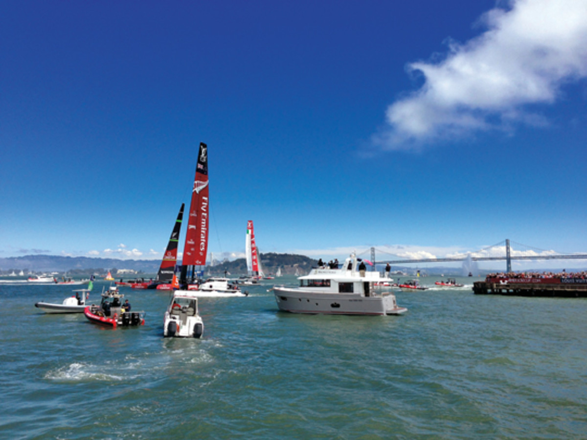 Fabre takes pride in the selection of Beneteau as the hospitality boat supplier for Oracle Team USA in its successful defense of the America's Cup in September.