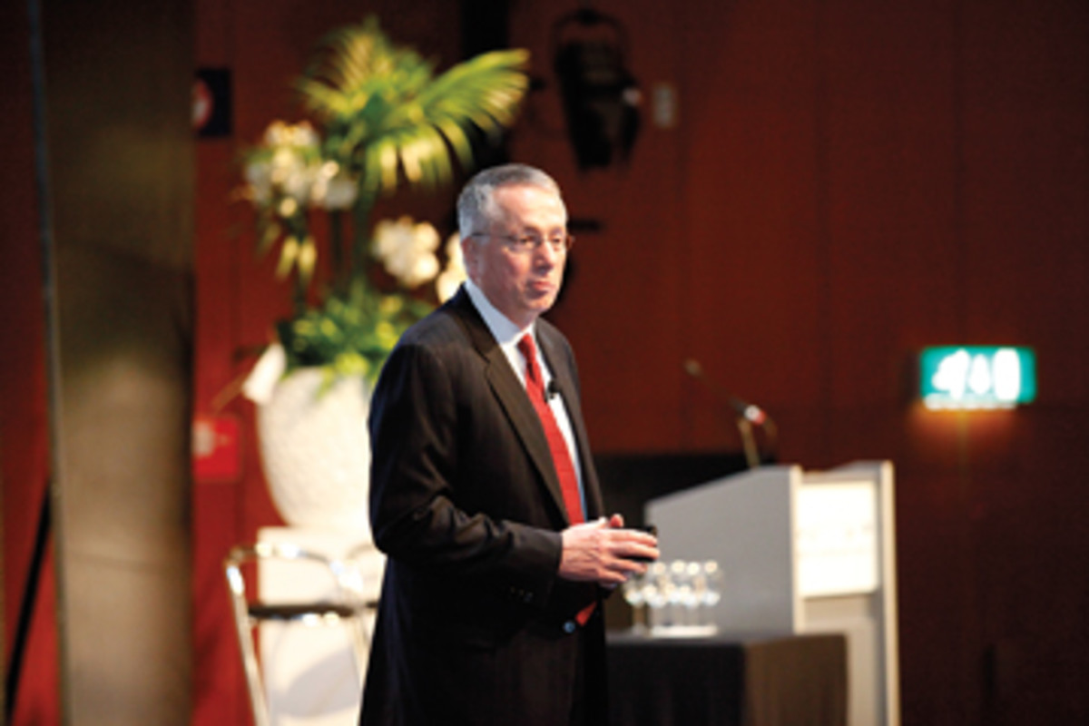 Brunswick Corp. CEO Dustan McCoy's keynote address helped set the optimistic tone.