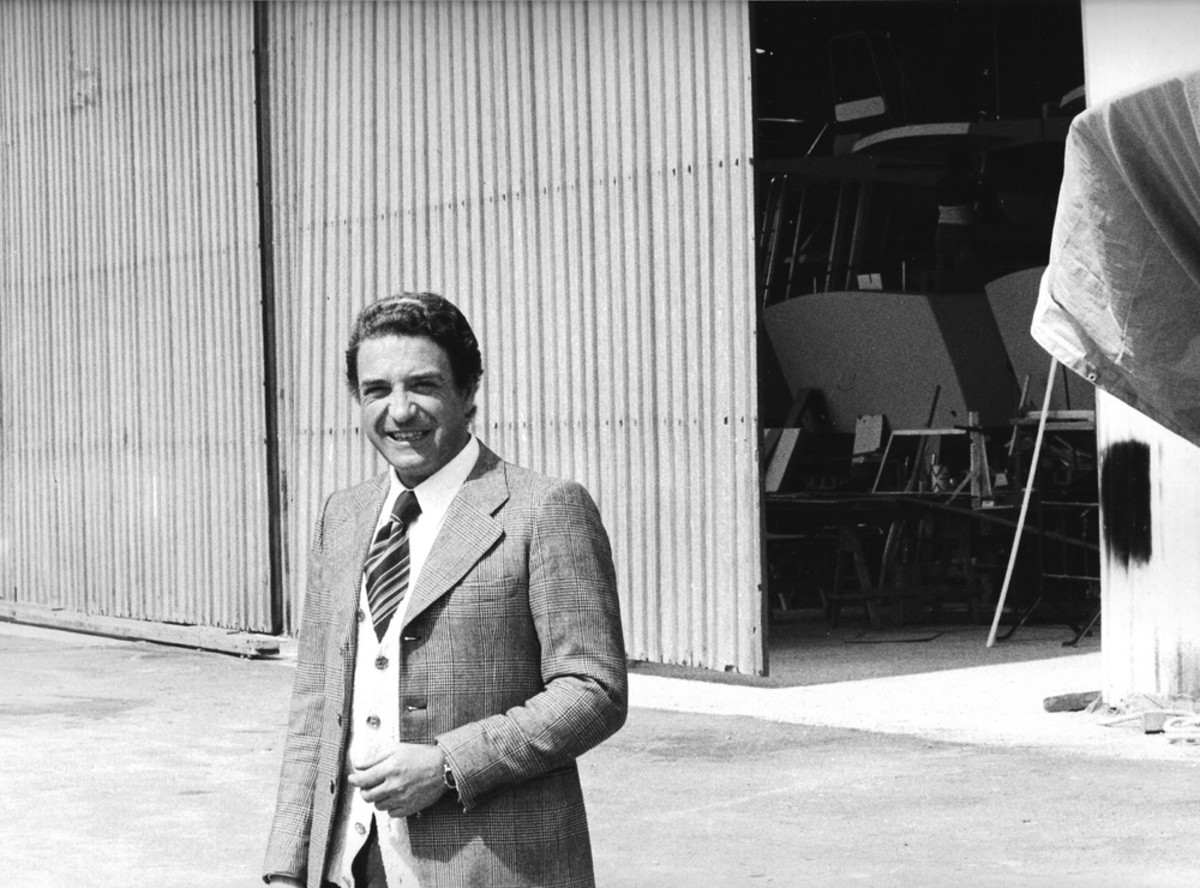 The Ferretti Group remembers the accomplishments of motoryacht builder Mario Amati, who died recently. He is shown in a 1977 photo.