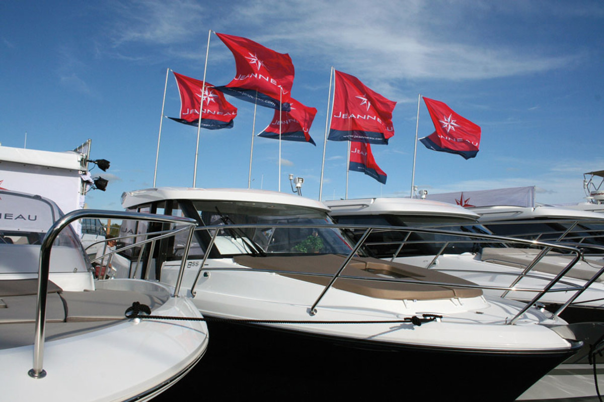 Jeanneau's display at February's Miami International Boat Show.