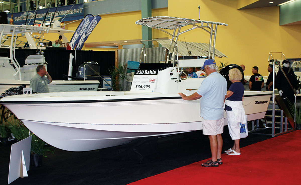 Visitors can see the latest in outboard technology.