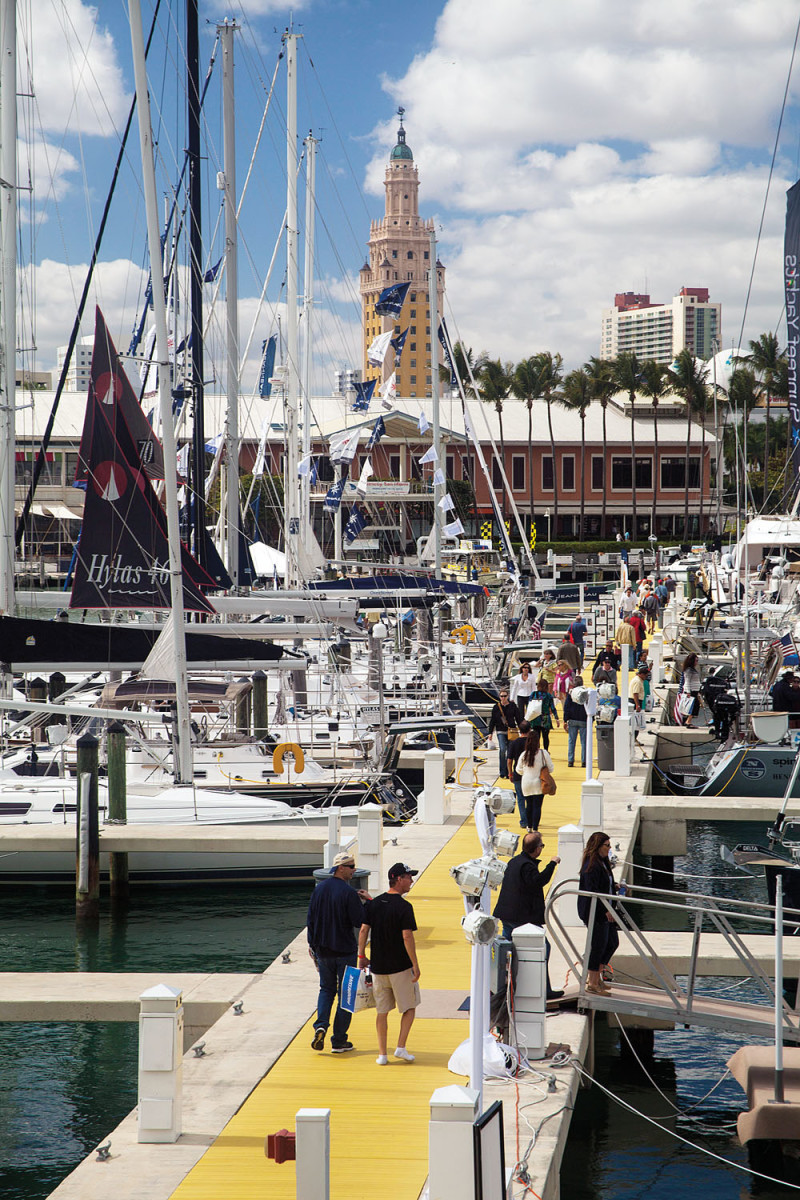 The Strictly Sail Miami portion of the show takes place at Miamarina at Bayside.