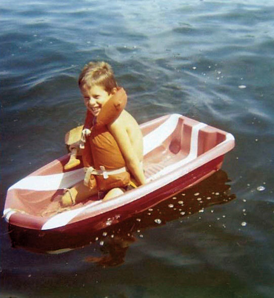 Ellis, in his first boat, was born into a boating family and says much of his childhood recreational time was spent on the water.